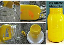 Diy Accents Glass Enamel Mason Jar Vase