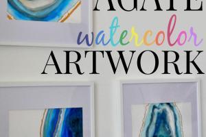 Diy Agate Watercolor Artwork First Home Love Life