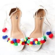 Diy Aquazzura Pom Poms Sandals