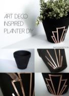 Diy Art Deco Inspired Planter Practical Pretty