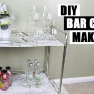 Diy Bar Cart Makeover Style Faux