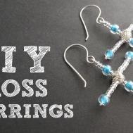 Diy Beaded Cross Earrings Christmas Tutorial