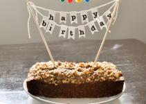 Diy Birthday Cake Banner Pom Poms Creative Ideas