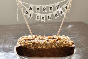 Diy Birthday Cake Banner Pom Poms Creative Ideas
