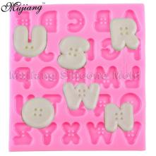 Diy Button Letters Alphabet Silicone Cake Mold Baby Party