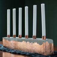 Diy Cement Copper Candle Centerpiece Make