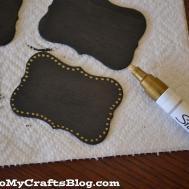Diy Chalkboard Gift Craft Glued Crafts