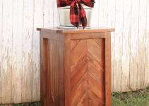 Diy Chevron Planter Stand Angela Marie Made