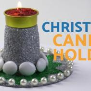 Diy Christmas Candle Holder Decor Waste