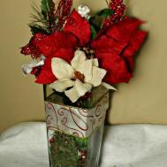 Diy Christmas Flower Arrangement Made Easy Dollar