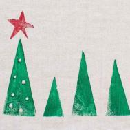 Diy Christmas Gift Idea Potato Stamped Tea Towels