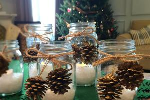 Diy Christmas Mason Jar Candles Nesting Story
