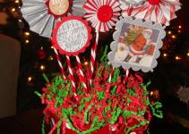 Diy Christmas Paper Centerpiece Planet Hollywood Home