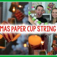 Diy Christmas Paper Cup String Lights Little Craft