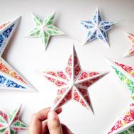 Diy Christmas Star Ornaments Holiday