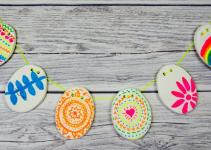 Diy Clay Easter Bunting Mum Madhouse
