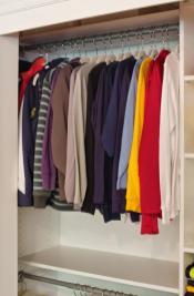 Diy Closet Rod Industrial Clothing Rack Double Shelf