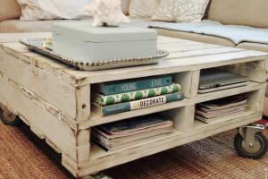 Diy Coffee Table Wheels Using Pallets