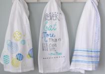 Diy Colorful Tea Towels Decor Fix