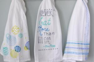 Diy Colorful Tea Towels Decor Fix