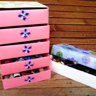 Diy Crafts Jewelry Organizer Box Cardboard Clipgoo