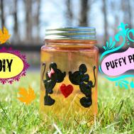 Diy Crafts Puffy Paint Jar