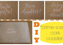Diy Crime Scene Cork Coasters Easy