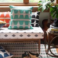 Diy Custom Stamped Geometric Pillow Cover