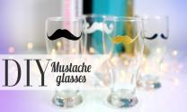 Diy Cute Mustache Drinking Glass His Her Gift Ideas