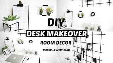 Diy Desk Makeover Organisation Hacks Tumblr Room Decor