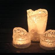 Diy Doily Tea Light Holders