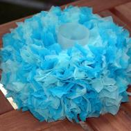 Diy Don Tutorial Tissue Paper Mini Wreath Centerpiece