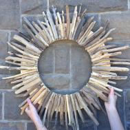Diy Driftwood Wreath 6263 Sustain Craft Habit