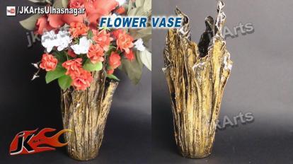 Diy Drip Flower Vase Waste Cloth Make