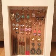 Diy Earrings Box Frame Pin Board Lady Blahga