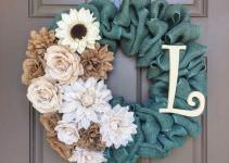Diy Easter Burlap Wreath Ideas Spring Personalized