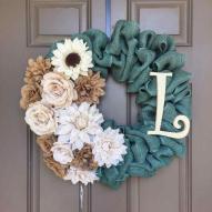 Diy Easter Burlap Wreath Ideas Spring Personalized