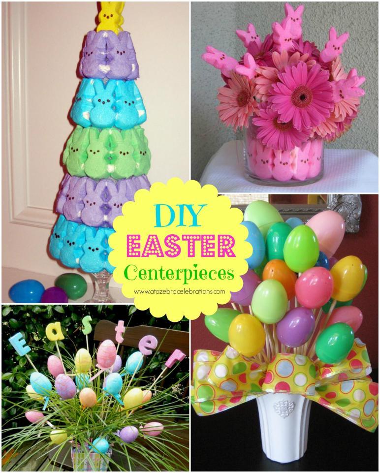Diy Easter Centerpieces Zebra Celebrations