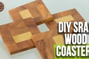 Diy Easy Wood Coasters Scrap Woodworking