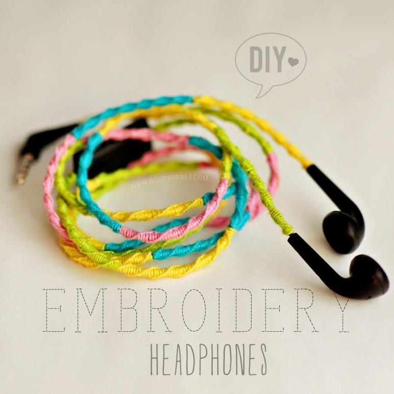 Diy Embroidery Headphones Auriculares Colores Agus
