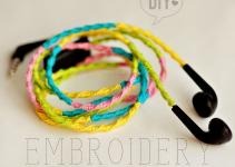 Diy Embroidery Headphones Auriculares Colores Agus