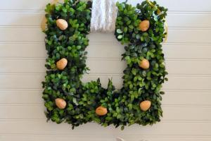 Diy English Boxwood Walnut Christmas Wreath Craft