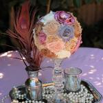 Diy Fabric Flower Topiary Centerpiece Idea Inspiration Decoratorist 159171