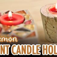 Diy Fall Cement Candle Holders Sea Lemon