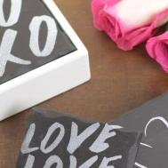 Diy Faux Slate Coasters Valentinesday Hometalk