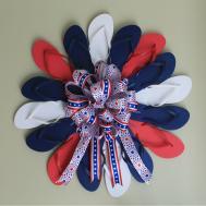 Diy Flip Flop Fourth Patriotic Wreath Depot