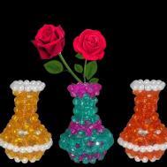 Diy Flower Vase Make Beaded