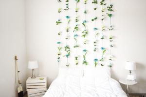 Diy Flower Wall Headboard Home Decor Sweet Teal