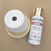 Diy Geometric Gold Spray Paint Painted Planter Tutorial