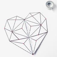 Diy Geometric Heart String Art Idee Della Vale
